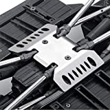RCLions Stainless Steel Center Skid Plate Protection Plate Chassis Guard for Axial SCX10 iii AXI03007 Upgrades 1/10th RC Crawler Car Accessories