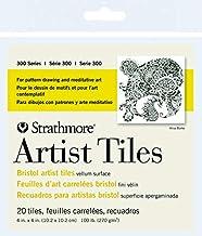 Strathmore 300 Series Bristol Artist Tiles, Vellum, 4 x 4 Inches, White, 20 Sheets