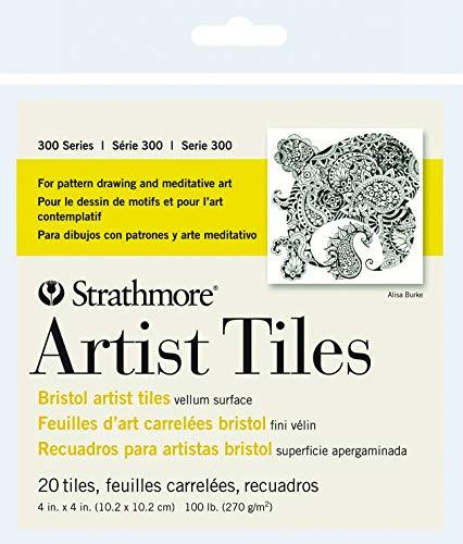 Strathmore 105-970 Künstlerfliesen, 300 Serie, Pergament, 10 x 10 cm, 20 Blatt