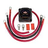VKS XR-GLQ2 12V 140 Amp Dual Battery Smart Isolator Installation Kit Fit ATV, UTV, Boats, RV's, Campers 5th Wheels Off Road Vehicles Rhino Polaris Artic Cat ETC Voltage Sensitive Relay VSR