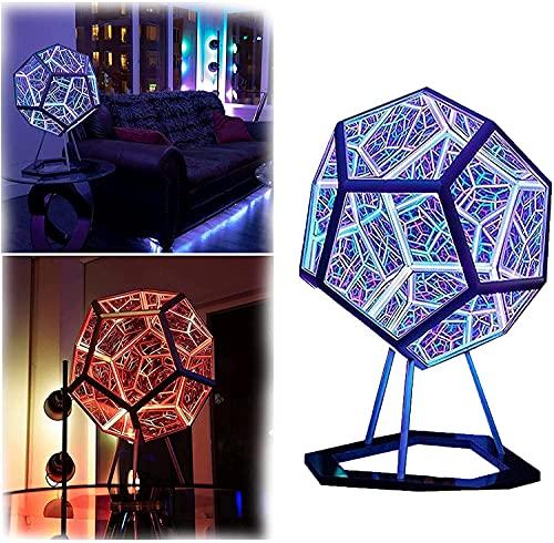 DIY luces geométricas coloridas del arte, luz infinita del arte del color del Dodecaedro, lámpara de carga USB, utilizado en el dormitorio, sala de estar decoración de escritorio