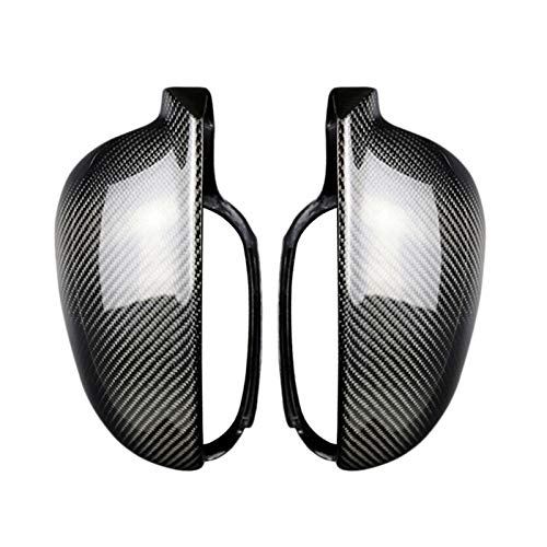 JDJD Türspiegelabdeckung 2Pcs Carbon-Faser-Art ABS Seitenrückspiegel Abdeckung Gepasst Fit for Golf 5 MK5 2003-2009 Spiegelkappen aus (Color : Carbon Fiber)