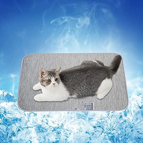 Luxear Tappetino Autorinfrescante Q-Max>0,43 per Cane, Gatti e Animali, Gris(45*60CM)