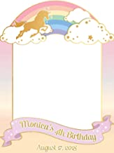 Unicorn Rainbow, Birthday Party, Photo Booth, Frame Prop, Size 24x36, 48x36 ; Rainbow Party, Pony Unicorn Party, Unicorn Birthday Party, Handmade DIY Party Supply Photo Booth Props