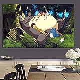 Imprimir en lienzo Anime Movie Canvas Painting Art Poster Modern Cartoon Wall Picture para decoración de la sala sin marco