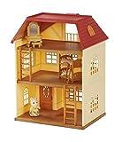 Sylvanian Families Puppenhaus Cedar Terrace aus Zedernholz, mit Terrasse, Geschenk-Set