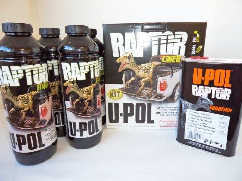 U-Pol Raptor Ladeflächen-Farbe, 4-Liter-Set
