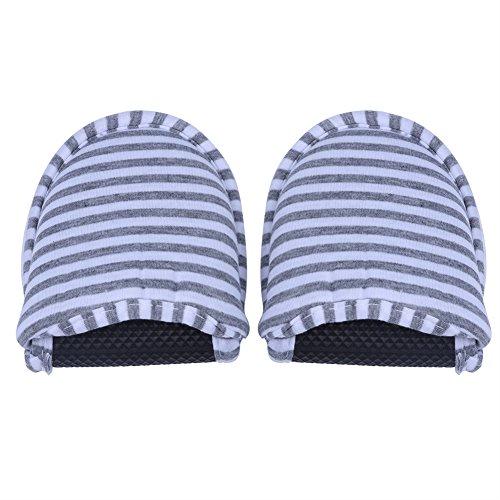 VGEBY1 Zapatos de Hotel.Zapatillas de casa de algodón Plegables Antideslizantes para Interiores con una Bolsa de Almacenamiento para Hotel, SPA, salón, Viajes(Women-Gris)