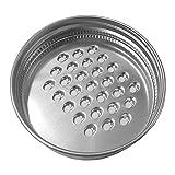 Mason Jar Gemüsereibe / Zerkleinerer für normale Mundgläser, Edelstahl Dosendeckel Reibe Deckel Käse Gitter Deckel Küche Cutter Deckel für Gemüse Kartoffel Karotte (70mm)