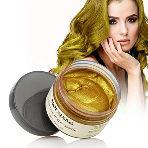 Sunsent 7 Colors Hair Care Hair Wax Matte Hairstyle Pomades (Gold)