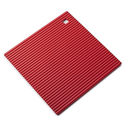 Zeal Dessous de Plat en Silicone antidérapant et résistant à la Chaleur 18 cm, Silicone, Red, 7-inch