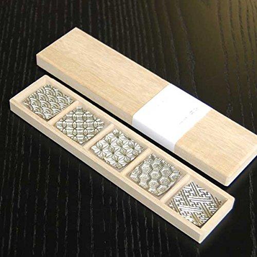 高岡銅器 炭谷三郎商店『錫製 箸置き 吉祥紋様 5個セット』