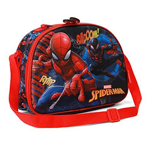 Karactermania Spiderman Smash-3D Lunch School Bag, 26 cm, Blue