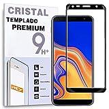 REY - Protector de Pantalla Curvo para Samsung Galaxy J4 Plus 2018 / J6 Plus 2018 / J4 Core, Negro,...