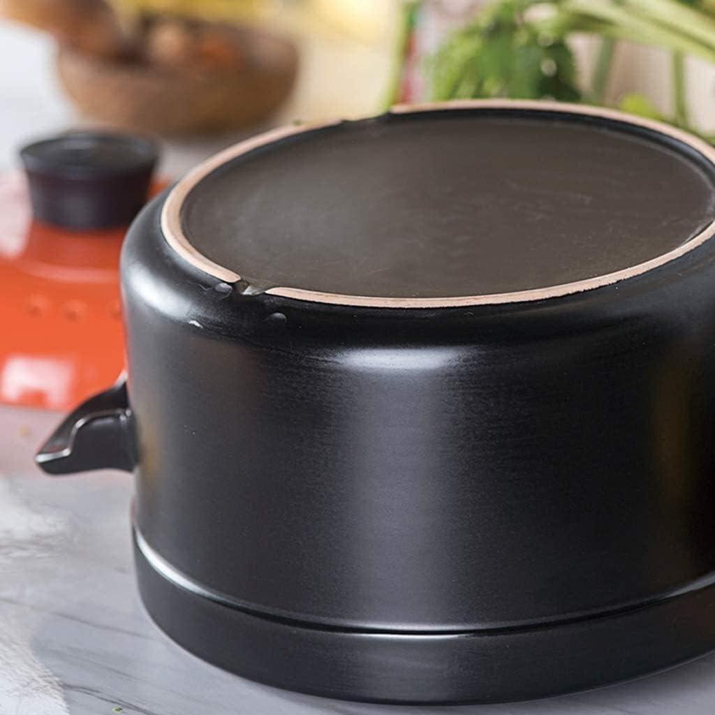 YWYW Casserole en céramique créative Pot de Cuisine gaz de Cuisine avec Couvercle Pot de Soupe Haute température et Grande capacité (Couleur: Jaune) Yellow
