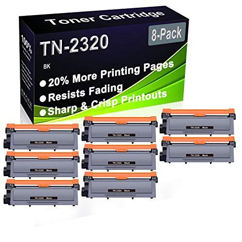 Cartucho de impresora láser compatible con DCP-L2500D, DCP-L2520D, DCP-L2520DW, DCP-L2540DN (alta capacidad) de repuesto para Brother TN2320 TN-2320