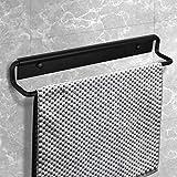CCKOLE porte-serviettes support mural, anneau porte serviettes espace aluminium, porte-serviette noir 40cm, anneau porte-serviettes pour salle de bain et cuisine