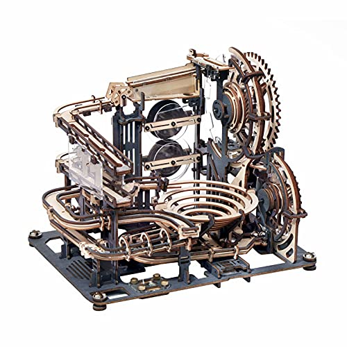 ROBOTIME 3D Puzzles for Adults Wooden Marble Run DIY Model Craft Kit to Build Unique Gift for Teens (Marble Night City)