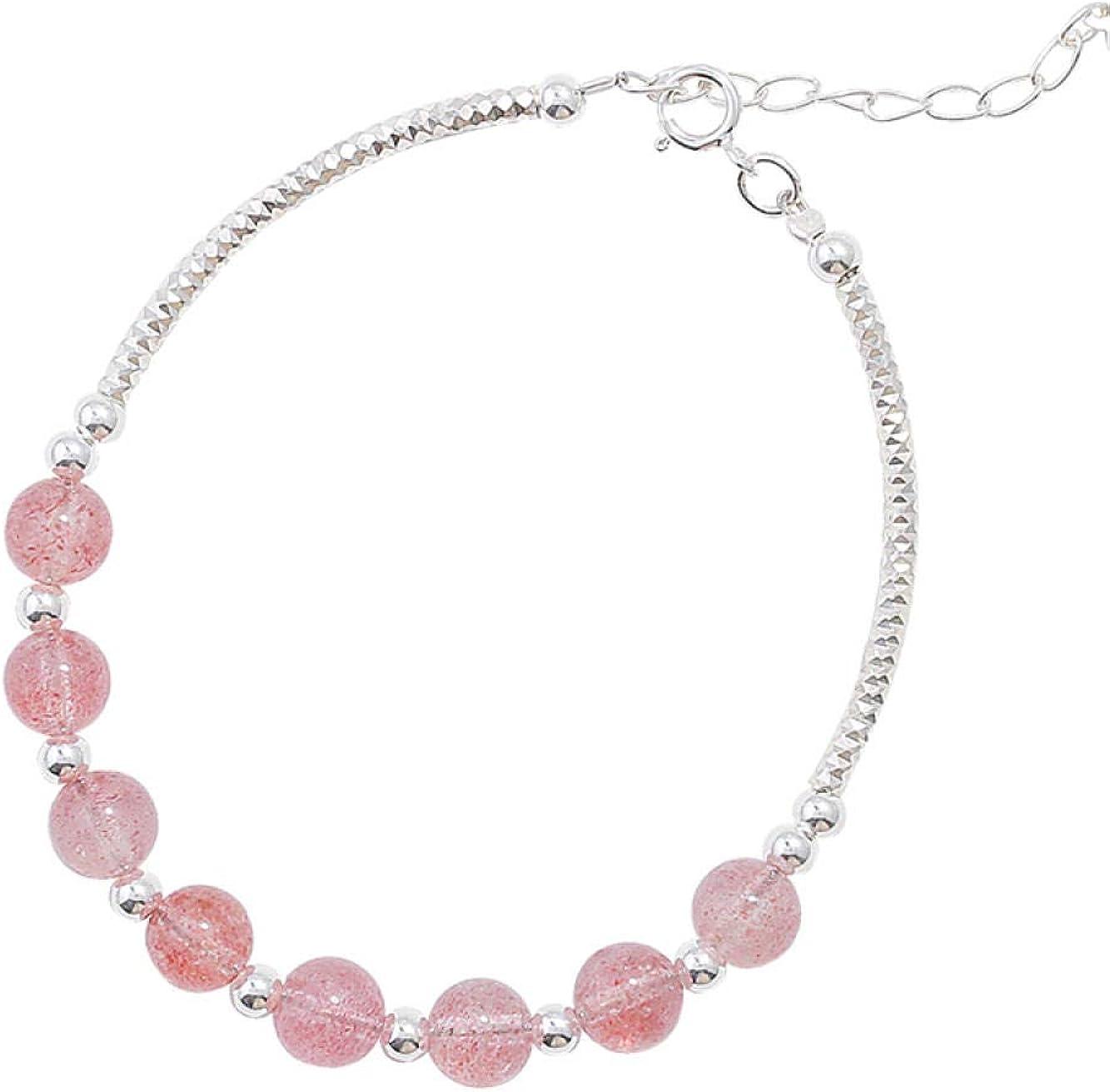 JJLEzlAM Bangle925 Silver Strawberry Crystal Peach Fees free!! Bracelet Super special price Blo