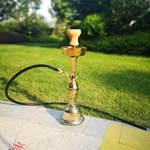 MAIAOXI Arab Shisha Pipe Bar Zubehör Single Schlauch Party Smoking Set Oriental Dekorative Shisha Mit Led Geeignet Für Bars, Clubs Und Nachtmärkte ,Kein Nikotin