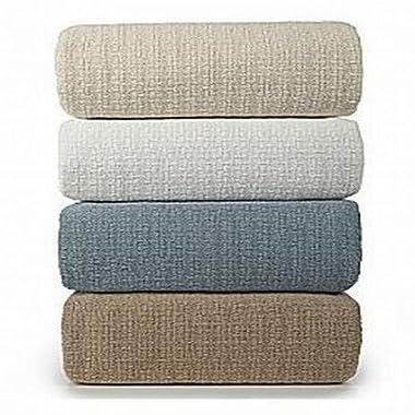 Lauren Ralph Lauren Estate White Cotton Classic Textured Weave Blanket - King
