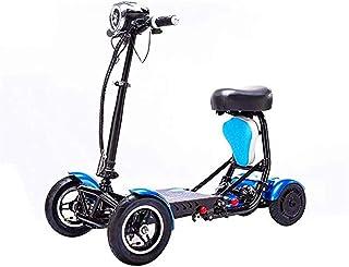 De peso ligero plegable sillas de ruedas eléctrica Silla de ruedas, 2020 portátil compacto conmuta Scooter eléctrico, plegable, Adulto, doble motor, Mini-Silla de ruedas eléctrica cuatro ruedas, ancia