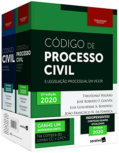 Combo - Código Civil + Código De Processo Civil + Cinta - 12ª Edição 2020