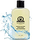 Mr Rugged Beard Wash and Conditioner for Men – (Peppermint 2-in-1, 4oz Bottle) Natural Beard Shampoo for Soft Beard – Strengthen and Improve Facial Hair Growth