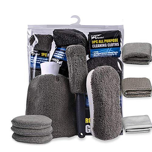 Kit per la pulizia dell'auto, kit per la cura dell'auto in 9 pezzi