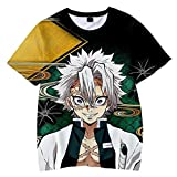 LVLUOKJ Camiseta para Adultos con Estampado de animación Digital en 3D de Manga Corta, Camiseta Informal Superior con patrón de Anime Demon Slayer Blade (Color : T-Shirt 11, Size : L)