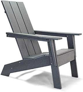 Resin TEAK HDPE Poly Lumber Modern Adirondack Chair | Adult-Size, Weather Resistant for Patio Deck Garden, Backyard & Lawn...