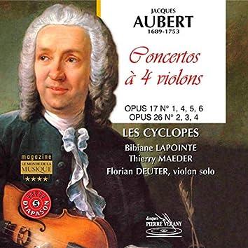 Aubert : Concertos à quatre violons, Op. 17 & Op. 26