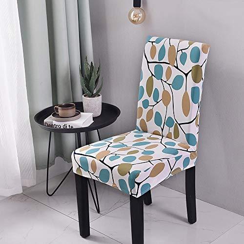 flqwe Stretch Jacquard Stoel Beschermer Elastische Spandex, Bloemenprint stoelhoes. Intrekbare elastische stoelhoes, Spandex stoelhoezen Uitneembare Stretch Chair
