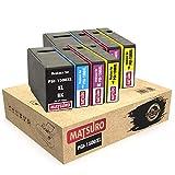 Matsuro Original | Compatible Cartuchos de Tinta Reemplazo para Canon PGI-1500XL PGI1500 XL (2 Sets)