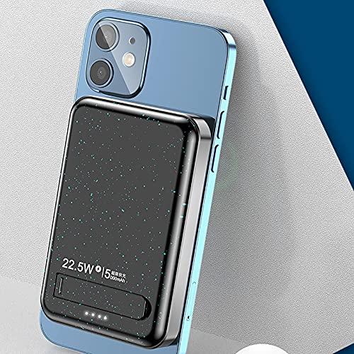 fasloyu Kabellose Powerbank, Magnetisches Kabelloses Schnellladebank Ladegerät, Tragbares Magnetisches Ladegerät 5000 mAh Notstromversorgung Kompatibel mit iPhone 13/13 Mini/13 Pro/13 Pro Max