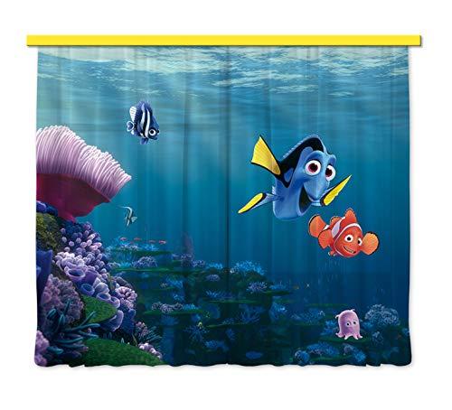 Gardine/Vorhang FCS xl 4323 Kinderzimmer Disney Nemo