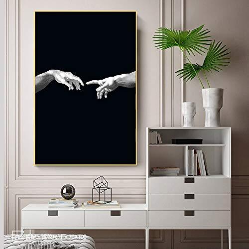 wZUN Kreatives Leinwandkunst-Bildschöpfungshandmalkunstplakat auf schwarzer Leinwand...