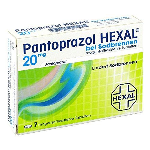 Pantoprazol HEXAL bei Sodbrennen, 7 St. magensaftresistente Tabletten