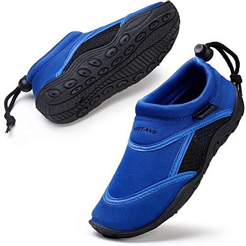 HKR Kinder Badeschuhe Wasserschuhe Barfussschuhe Strandschuhe Surfschuhe für Jungen Schwarz/Blau 31 EU