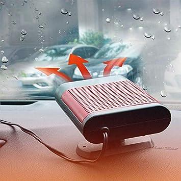 Calefactor De Furgoneta De Coche BBO Calentador de Coche 12V 150W Port/átil Calentador R/ápido de Descongelaci/ón 2 en 1 Descongelador De Parabrisas Y Desempa/ñador De Nieve