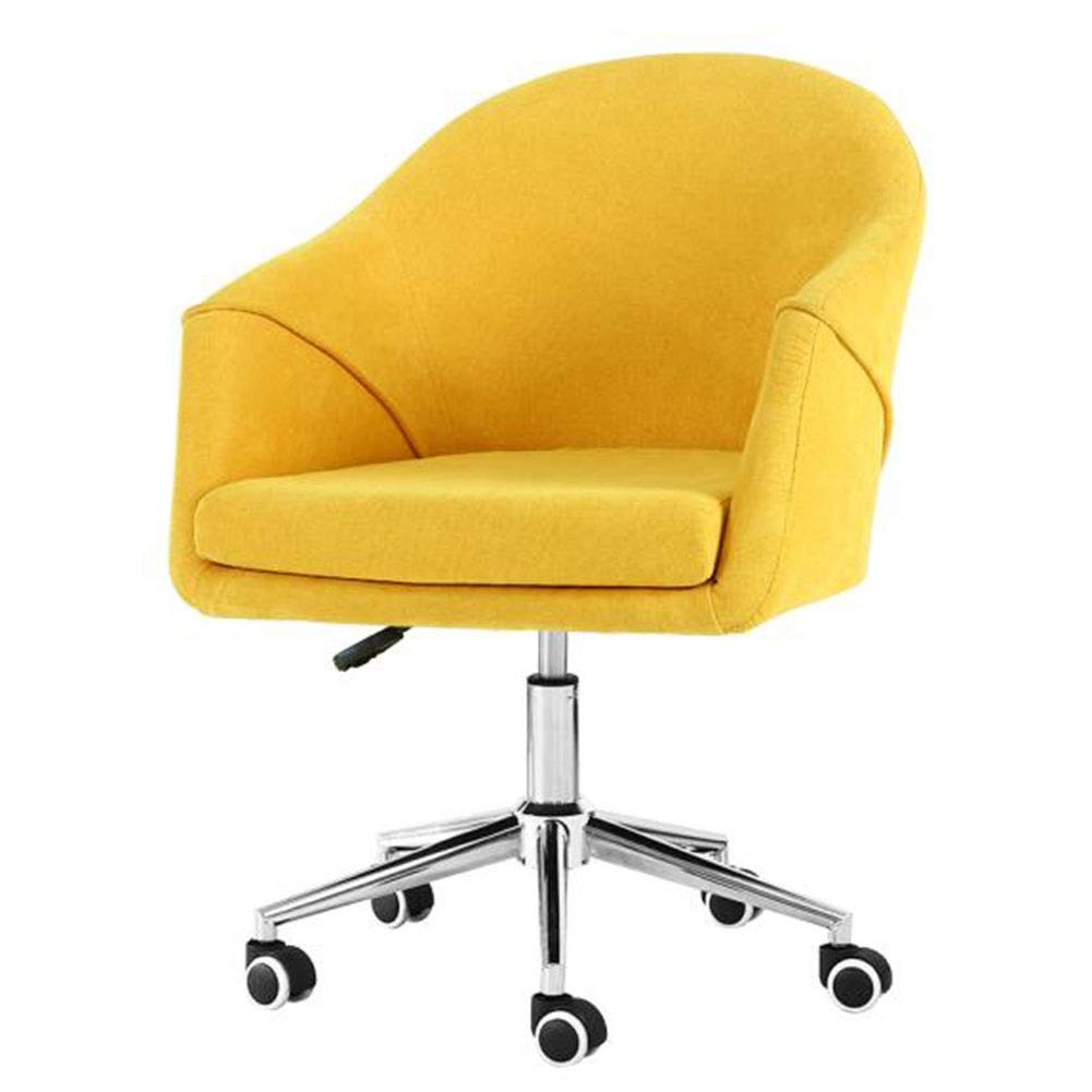 Amazon Com Chairs Home Office Ergonomic Swivel Computer Task Desk Upholstered Seat 360 Swivel Adjustable Height Study Room Liuna Color Yellow Kitchen Dining
