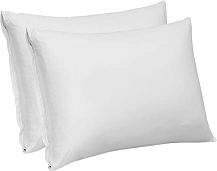 Utopia Bedding Cotton Sateen Zippered Pillow Case 300 Thread Count