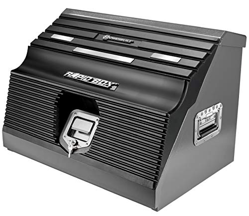 "Powerbuilt 26"" Rapid Box Portable Slant Front Tool Box (Magnetic Lid - Black)"