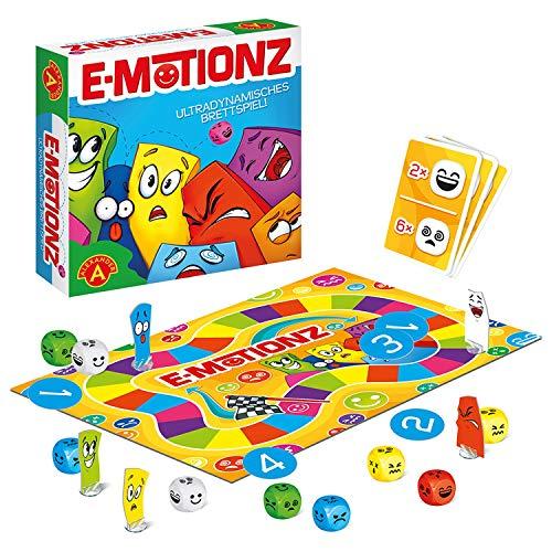 Alexander 2434 - Emotionz, Brettspiel mit Emoji Würfeln, Würfelspiel als Reaktionsspiel mit 40 Würfeln, Familienspiel für 2 - 5 Spieler, Gesellschaftsspiel für Erwachsene und Kinder ab 7 Jahre