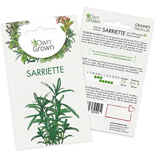 Graines de sarriette (Origanum majorana), semences de sarriette cultivée OwnGrown, Semis pour environ 300 plantes