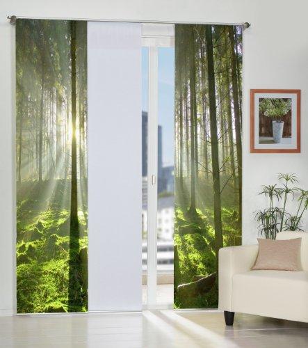 Home Fashion 3er-Set Flächenvorhänge SCHWEDEN, Deko-Stoff Blickdicht, inkl. hochwertigem Zubehör