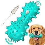 Juguete para perros, cepillo de dientes para perros, juguete masticable para perros, juguete masticable para mascotas, palo de limpieza de dientes de goma natural duradero resistente a las mordeduras