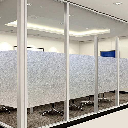 Zelfklevende raamfolie, melkglas, 45/50/60 cm, bescherming tegen inkijk, voor badkamer, kantoor, slaapkamer, decoratiefolie, zelfklevend 02 60cm