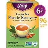 Yogi Tea - Green Tea Muscle Recovery - Supports an Active Body - 6 Pack, 96 Tea Bags Total