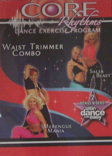 Price comparison product image CORE Rhythms Dance Exercise Program,  Waist Trimmer Combo,  Latin Dance Made Easy,  Salsa Blast / Merengue Mania
